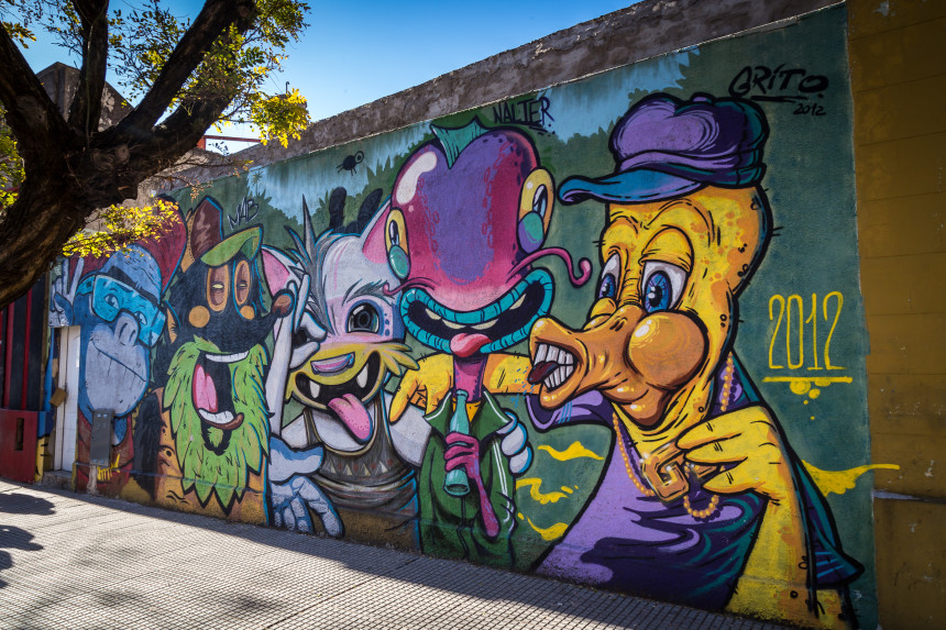 Mural by Cof, Mab, Animalito Land, Nalter & Grito
