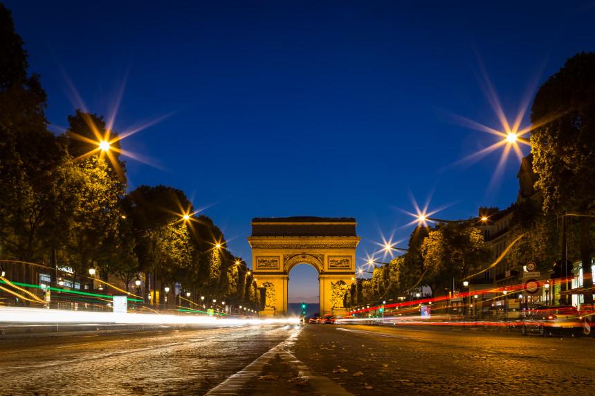 Champs-Élysées and Arc de Triomphe