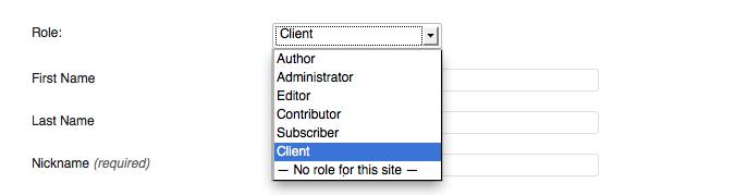 Client Role