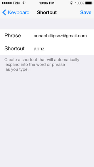 iOS - add shortcut